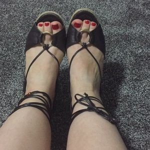 Really Cute Leather Espadrilles